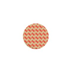 Modern Retro Chevron Patchwork Pattern 1  Mini Button by creativemom