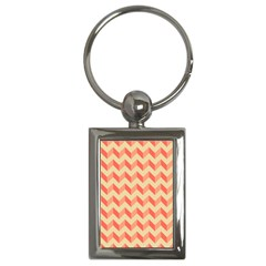 Modern Retro Chevron Patchwork Pattern Key Chain (rectangle) by creativemom