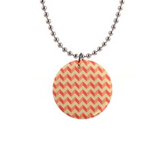 Modern Retro Chevron Patchwork Pattern Button Necklace by creativemom