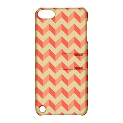 Modern Retro Chevron Patchwork Pattern Apple Ipod Touch 5 Hardshell Case With Stand by creativemom