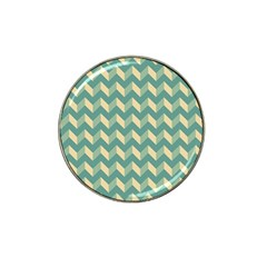 Mint Modern Retro Chevron Patchwork Pattern Golf Ball Marker (for Hat Clip) by creativemom