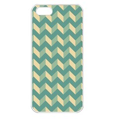 Mint Modern Retro Chevron Patchwork Pattern Apple Iphone 5 Seamless Case (white) by creativemom