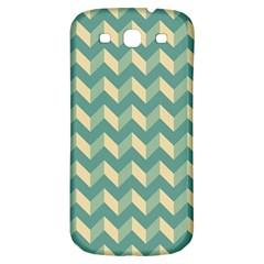 Mint Modern Retro Chevron Patchwork Pattern Samsung Galaxy S3 S Iii Classic Hardshell Back Case by creativemom