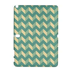 Mint Modern Retro Chevron Patchwork Pattern Samsung Galaxy Note 10 1 (p600) Hardshell Case by creativemom