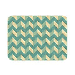 Mint Modern Retro Chevron Patchwork Pattern Double Sided Flano Blanket (mini) by creativemom