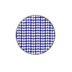 Blue And White Leaf Pattern Golf Ball Marker 4 Pack (for Hat Clip) by creativemom