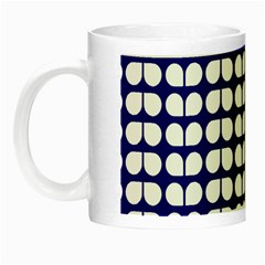 Blue And White Leaf Pattern Glow In The Dark Mug by creativemom