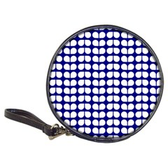 Blue And White Leaf Pattern Cd Wallet by creativemom