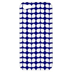 Blue And White Leaf Pattern Apple Iphone 5 Hardshell Case by creativemom