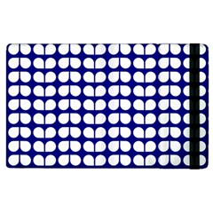 Blue And White Leaf Pattern Apple Ipad 2 Flip Case by creativemom