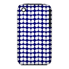 Blue And White Leaf Pattern Apple Iphone 3g/3gs Hardshell Case (pc+silicone) by creativemom