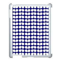 Blue And White Leaf Pattern Apple Ipad 3/4 Case (white) by creativemom