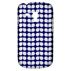 Blue And White Leaf Pattern Samsung Galaxy S3 Mini I8190 Hardshell Case by creativemom
