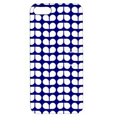 Blue And White Leaf Pattern Apple Iphone 5 Hardshell Case With Stand by creativemom