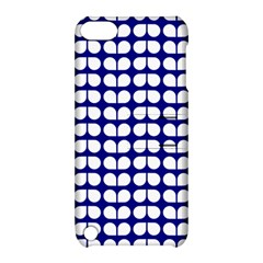 Blue And White Leaf Pattern Apple Ipod Touch 5 Hardshell Case With Stand by creativemom