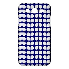 Blue And White Leaf Pattern Samsung Galaxy Mega 5 8 I9152 Hardshell Case  by creativemom