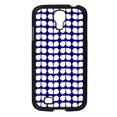 Blue And White Leaf Pattern Samsung Galaxy S4 I9500/ I9505 Case (black) by creativemom