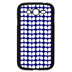 Blue And White Leaf Pattern Samsung Galaxy Grand Duos I9082 Case (black) by creativemom