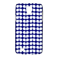 Blue And White Leaf Pattern Samsung Galaxy S4 Active (i9295) Hardshell Case by creativemom