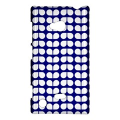 Blue And White Leaf Pattern Nokia Lumia 720 Hardshell Case by creativemom
