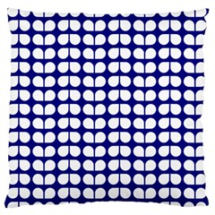 Blue And White Leaf Pattern Standard Flano Cushion Case (two Sides) by creativemom