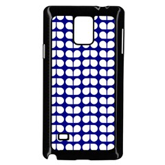 Blue And White Leaf Pattern Samsung Galaxy Note 4 Case (black) by creativemom