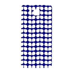 Blue And White Leaf Pattern Samsung Galaxy Alpha Hardshell Back Case by creativemom