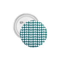 Teal And White Leaf Pattern 1 75  Button by creativemom
