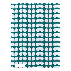 Teal And White Leaf Pattern Apple Ipad 3/4 Hardshell Case by creativemom