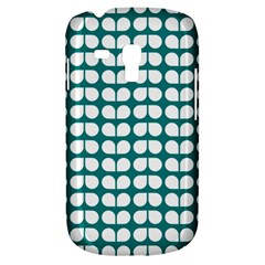 Teal And White Leaf Pattern Samsung Galaxy S3 Mini I8190 Hardshell Case by creativemom