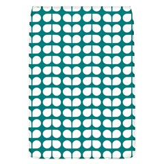 Teal And White Leaf Pattern Removable Flap Cover (large) by creativemom