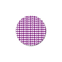 Purple And White Leaf Pattern Golf Ball Marker 10 Pack by creativemom