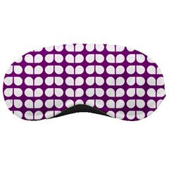 Purple And White Leaf Pattern Sleeping Mask by creativemom