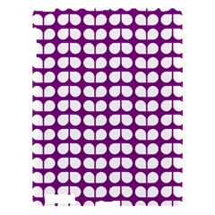 Purple And White Leaf Pattern Apple Ipad 3/4 Hardshell Case by creativemom