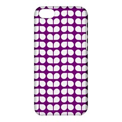 Purple And White Leaf Pattern Apple Iphone 5c Hardshell Case by creativemom