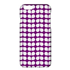Purple And White Leaf Pattern Apple Iphone 6 Plus Hardshell Case by creativemom