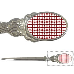 Red And White Leaf Pattern Letter Opener by creativemom