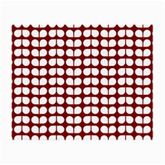 Red And White Leaf Pattern Glasses Cloth (small) by creativemom