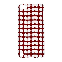 Red And White Leaf Pattern Apple Ipod Touch 5 Hardshell Case by creativemom