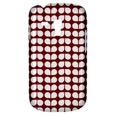 Red And White Leaf Pattern Samsung Galaxy S3 Mini I8190 Hardshell Case by creativemom