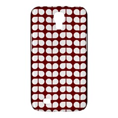 Red And White Leaf Pattern Samsung Galaxy Mega 6 3  I9200 Hardshell Case by creativemom