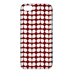 Red And White Leaf Pattern Apple Iphone 5c Hardshell Case by creativemom