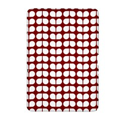 Red And White Leaf Pattern Samsung Galaxy Tab 2 (10 1 ) P5100 Hardshell Case  by creativemom