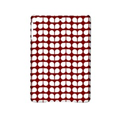 Red And White Leaf Pattern Apple Ipad Mini 2 Hardshell Case by creativemom