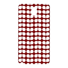 Red And White Leaf Pattern Samsung Galaxy Note 3 N9005 Hardshell Back Case by creativemom