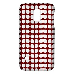 Red And White Leaf Pattern Samsung Galaxy S5 Mini Hardshell Case  by creativemom