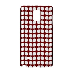 Red And White Leaf Pattern Samsung Galaxy Note 4 Hardshell Case by creativemom