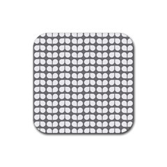 Gray And White Leaf Pattern Drink Coasters 4 Pack (square) by creativemom