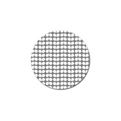 Gray And White Leaf Pattern Golf Ball Marker 4 Pack by creativemom