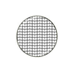 Gray And White Leaf Pattern Golf Ball Marker 4 Pack (for Hat Clip) by creativemom